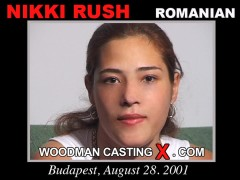 Watch Nikki Rush first XXX video. Pierre Woodman undress Nikki Rush, a Romanian girl.