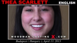 Access Thea Scarlett casting in streaming. A English girl, Thea Scarlett will have sex with Pierre Woodman.