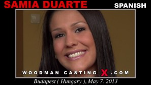 Download Samia Duarte casting video files. A Spanish girl, Samia Duarte will have sex with Pierre Woodman. 